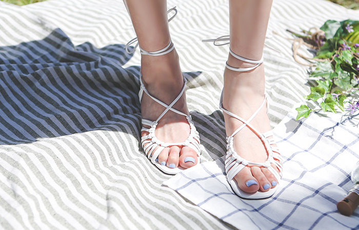 [Models wear37st]Glady Summer Strap Point Shoes
