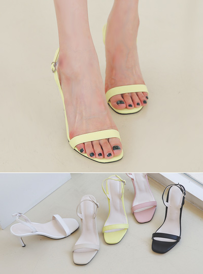 [Models wear37st]Simply Square Summer Sandal Heel