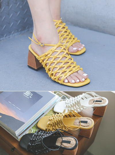 [Models wear37st]Natural Net Sandals