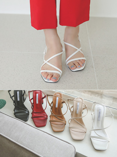 [Models wear37st]Simple Strap Platform shoes Sandals