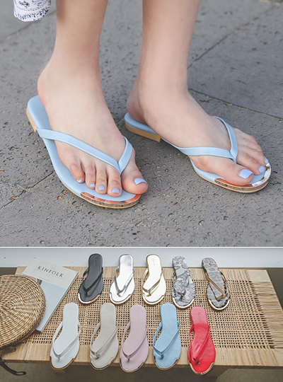 [Models wear37st]페니슈 Gold Tip Point Daily Flip Flop
