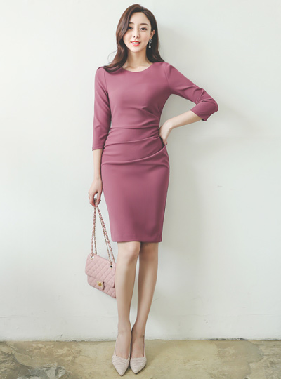 Drape Shirring Dress(fall)