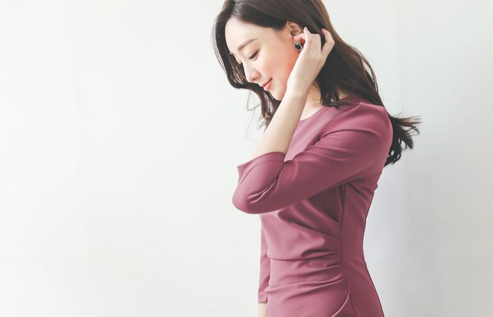 Drape Shirring Dress(fall)