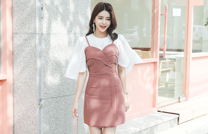 Tulip Bustier Mini Dress
