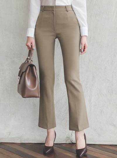 Formal Span Smooth Boot-Cut Slacks(fall)