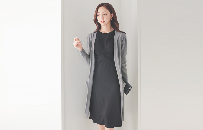 Daily Soft Banding Open Cardigan