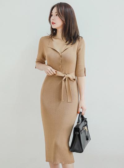 Open Kara Slim Knit Dress