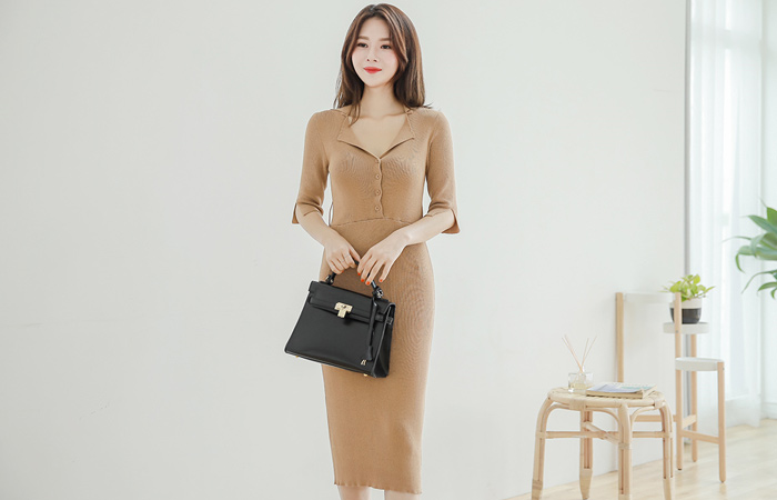 Open Kara Slim Knit Dress