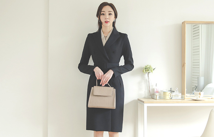 Classic Slim Double Tailored Long Jacket