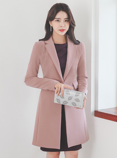 Modern Tailored One-Button Slim Long Jacket(fall)