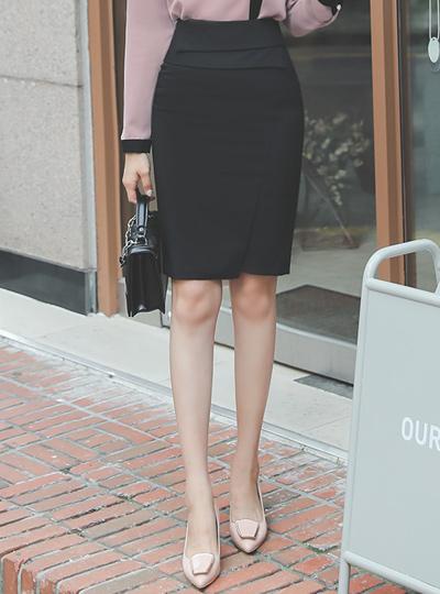 Scarlett Pintuck Side Slit Span Skirt