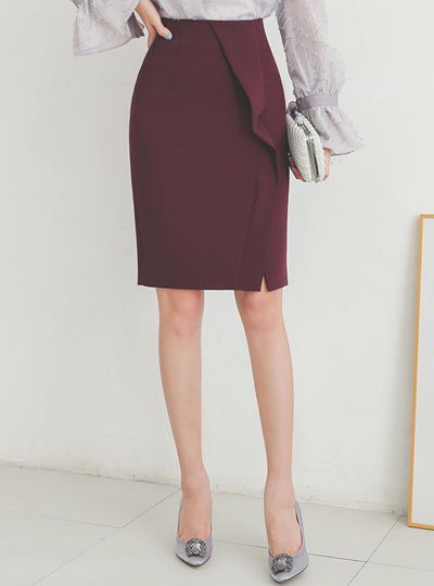 Double Unbal-Diagonal Line H-line Span Skirt
