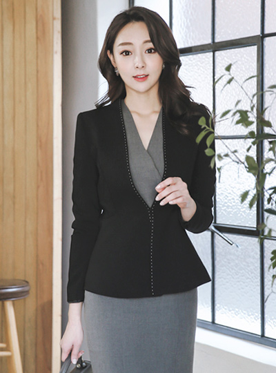 Formal stitch No collar Jacket