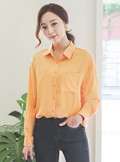 Daily One-Pocket Soft Cotton Gauze Shirt