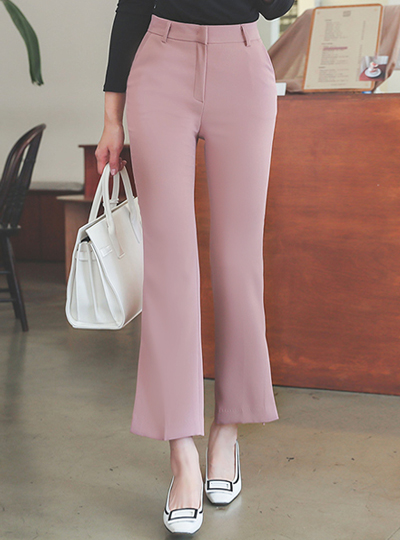 Slit Semi- Boot-Cut Slacks