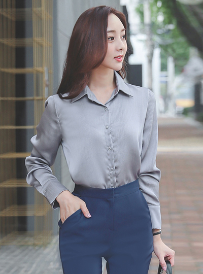 Haze Satin Cuffs Blouse
