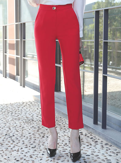 Isabel Gold Button Slim Span Slacks