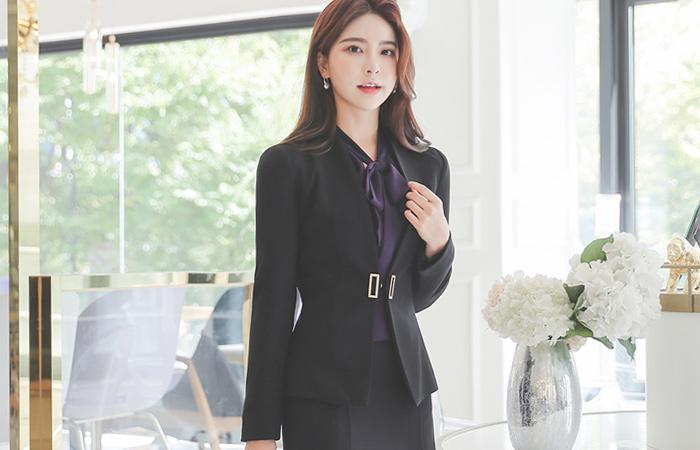Gold Square No-collar Slim Line Jacket