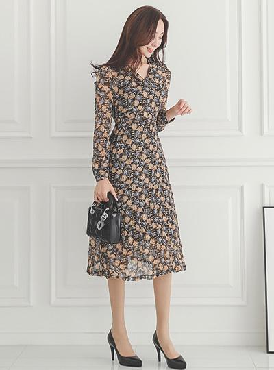 Rosalie Flower Wrap Style Dress