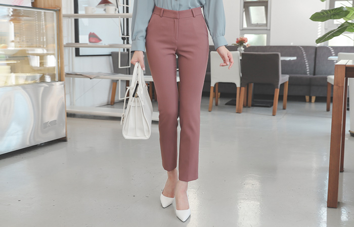 Soft Slim Straight Slacks