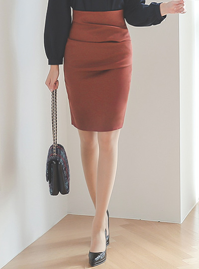 Simple Fold Slim Skirt(fall)