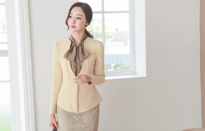 Cutting Draping Gold-Ring Button JacketⅡ
