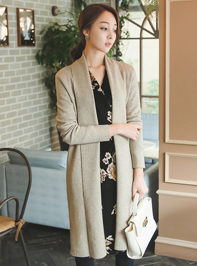 [Scratch]Cashmere Touch Shawl Long Cardigan
