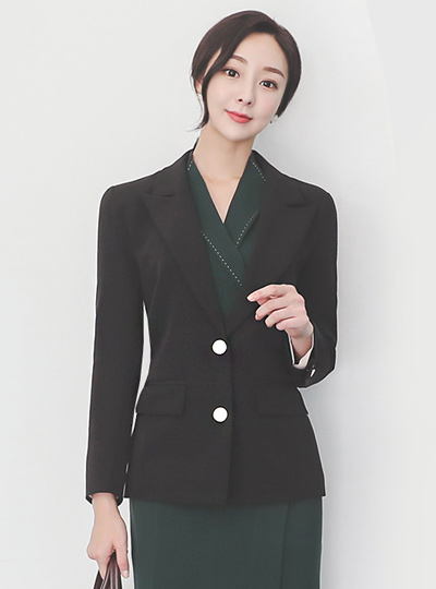 Tailored Gold Button Simply Jacket