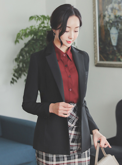 Simple Basic Tailored Double Button Jacket