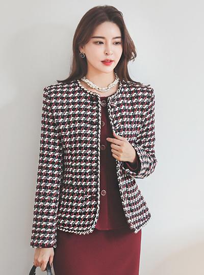 Signature Color Braid Tweed Jacket