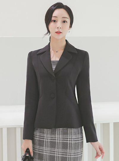 Tailored Collar Two button Cutting-line Jacket