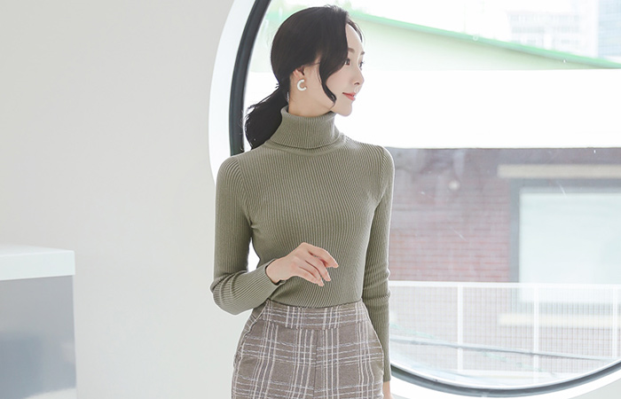 Daily Turtleneck Corduroy Knit T-Top Ⅱ