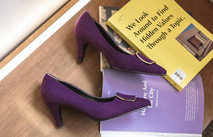 Winter Suede Gold Ring Stiletto Heels