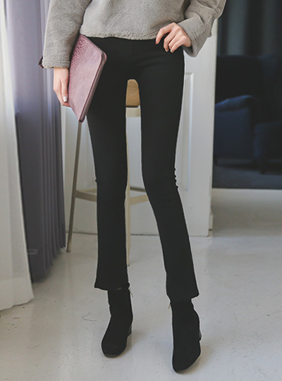 Pitch brushed Slim Boot cut Pants