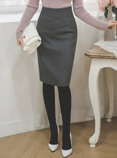 simple High brushed spandex Skirt