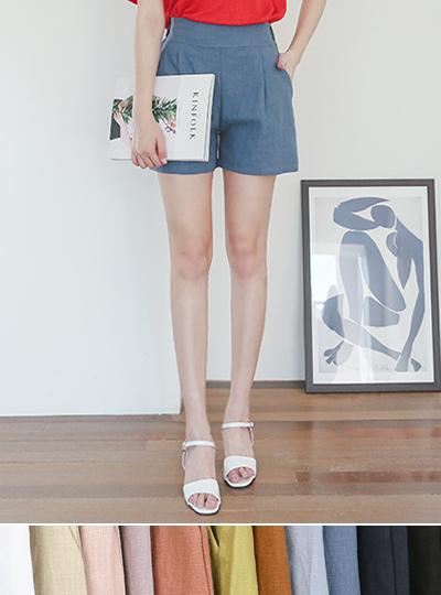 Colorful Linen Banding Shorts
