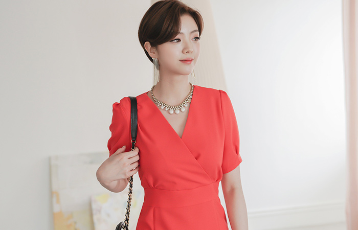 Supply Volume Sleeved Dress