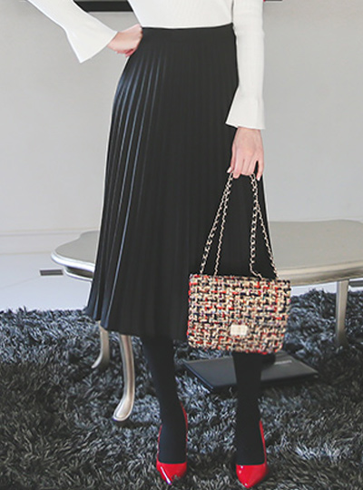 Wool Accordion Pleats Skirt