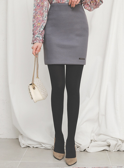Handmade Slim Hline Wool Skirt