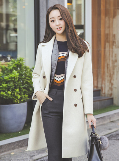 Bocashi Cashmere double Wool Coat