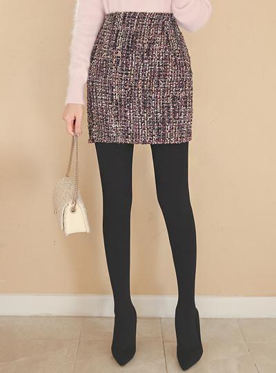 Aurora pearl Tweed Mini Skirt
