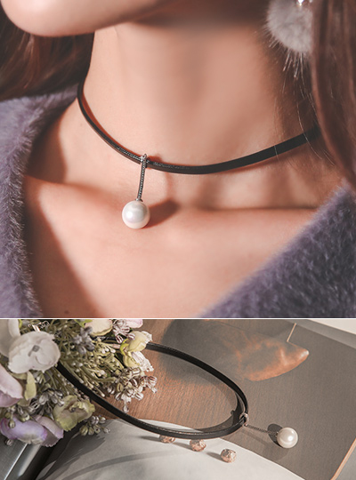Pearl Stick Choker Necklace