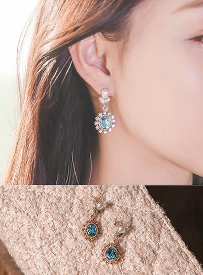 sapphire Blue Earring
